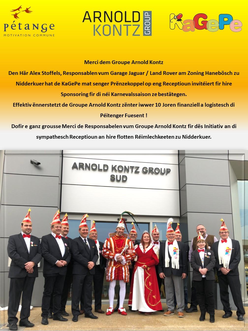 Merci dem Groupe Arnold Kontz